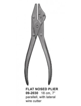 Wasons flat nosed plier with wire cutter 18cm